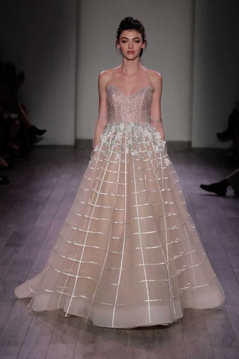 Wedding Dresses Photos - Grid-Design Gown by Hayley Paige 2016 ...
