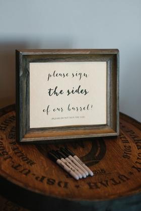 Wedding ideas guestbook alternative wine barrel or whisky barrel signing for decor home ideas
