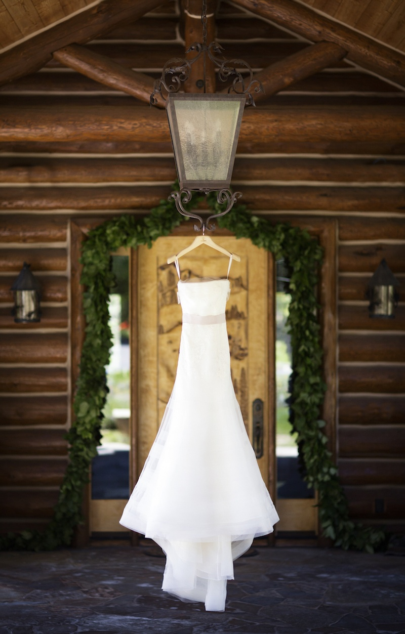 Wedding Dresses Photos - Strapless Wedding Dress on Hanger - Inside ...