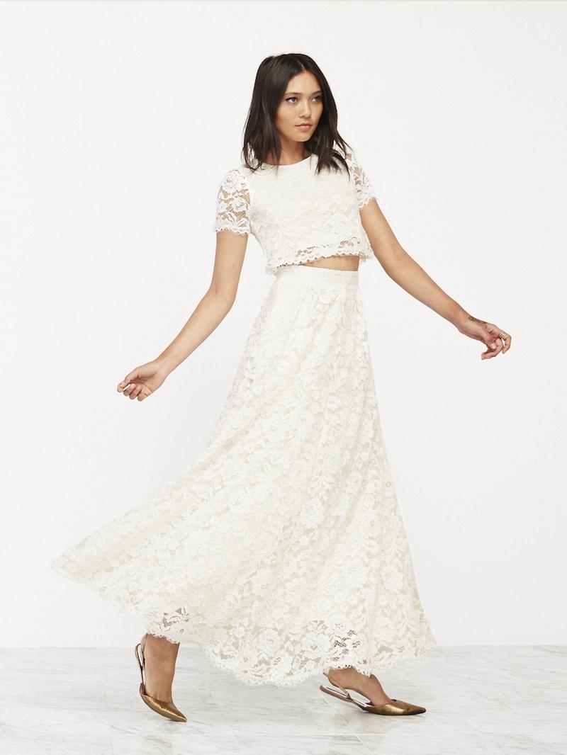 Wedding dresses photos lace wedding dress with crop top for Wedding dresses lace top