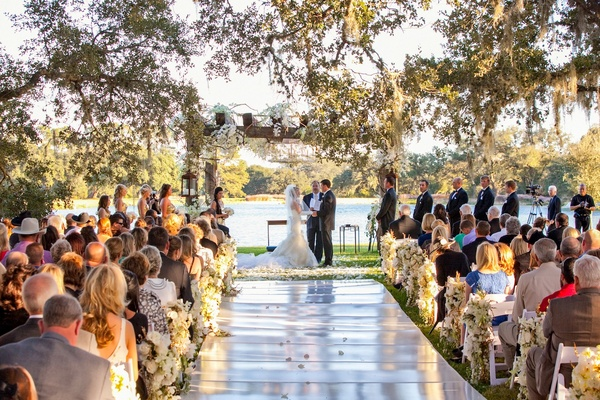 Romantic Lakefront Ceremony + Elegant Tented Reception In