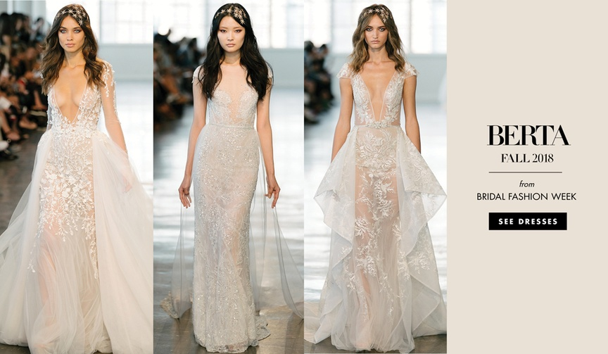 Berta Fall 2018 wedding dress bridal gowns collection bridal market fashion week