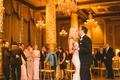 the drake hotel wedding reception bride and groom first dance guests watching gold decor