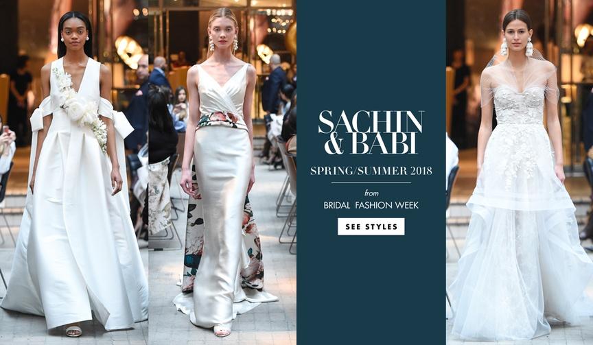 sachin & babi spring summer 2018 bridal fashion week wedding dresses designer runway