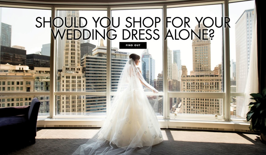 Should you shop for your wedding dress alone? Pros and cons