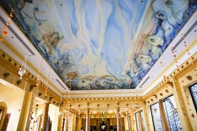 Villa Caletas dining room ceiling painting