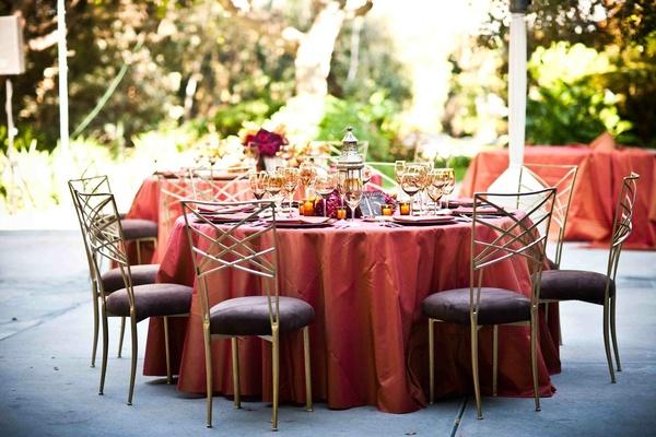 Elegant Red Gold Wedding In Malibu California Inside