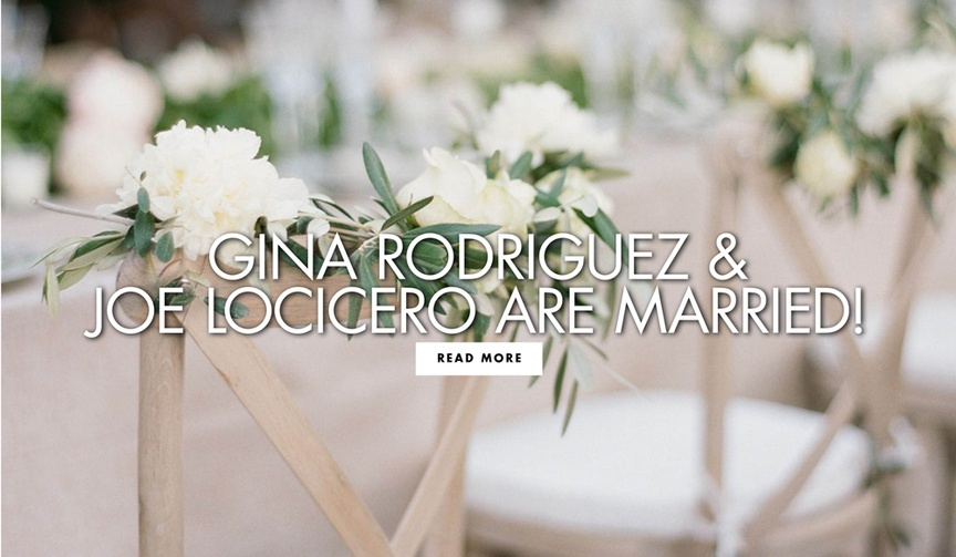 Gina Rodriguez and Joe LoCicero are married see more of their outdoor wedding