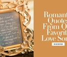 romantic lyrics from love songs for wedding decor, vows