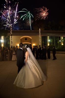 Florida wedding with surprise firework show