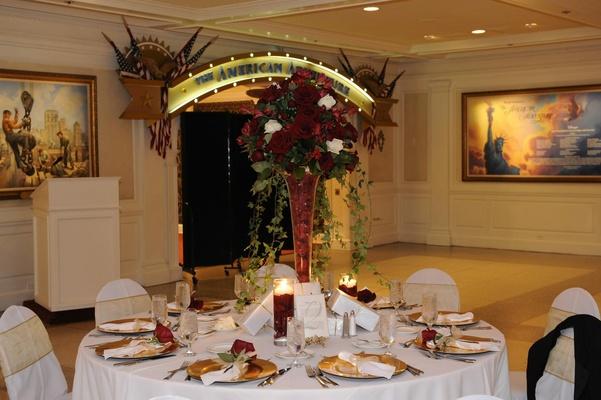American Adventure Rotunda room wedding reception