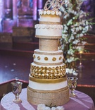 pia toscano american idol jimmy ro smith jennifer lopez wedding cake gold sparkles opulent