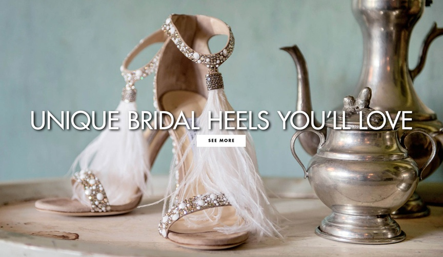 Unique bridal heels you'll love wedding shoes that are not boring