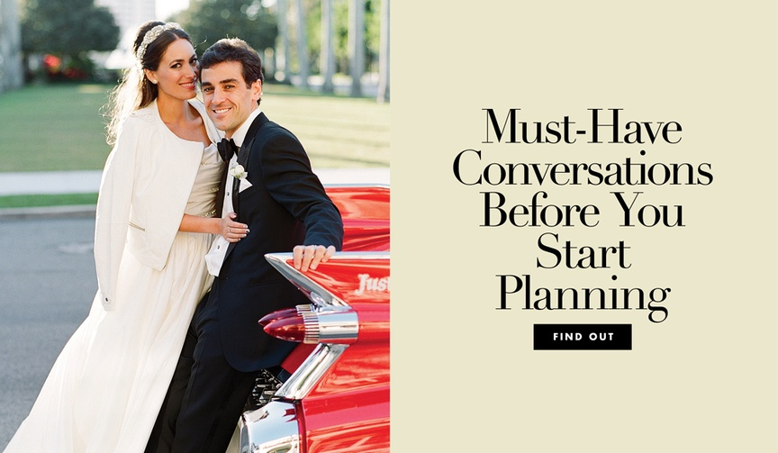 conversations to have with your partner before you start wedding planning