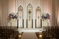 modified catholic ceremony with custom stained glass details