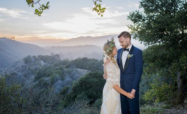 Romantic, Outdoor Bohemian-Chic Wedding at a Santa Barbara Park