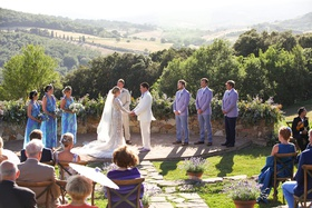 destination wedding in tuscany, outdoor wedding italian hills