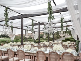 Outdoor reception at The Resort at Pelican Hill.