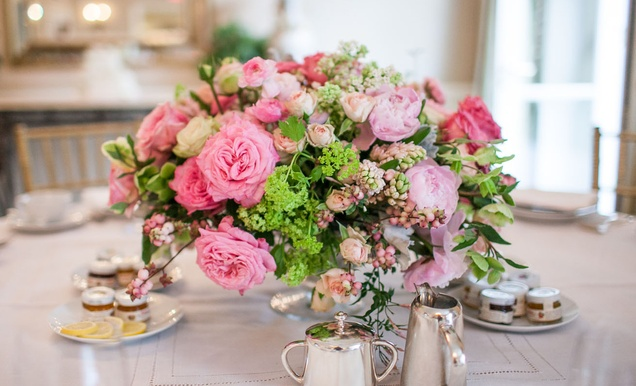 pretty bridal shower with pink details in beverly hills california rh insideweddings com