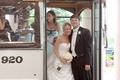 Brooke Anderson and groom en route to ceremony