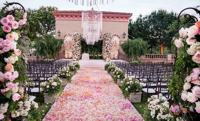 Alfresco Jewish Wedding Ceremony Lush Reception In San Diego