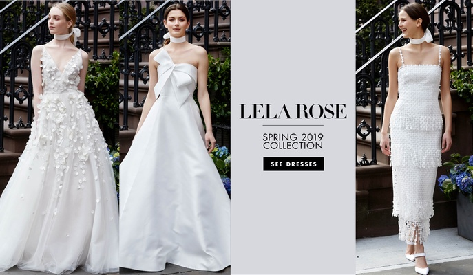 Bridal fashion week lela rose spring 2019 inside weddings the new gowns juxtapose traditional and contemporary styles junglespirit Choice Image