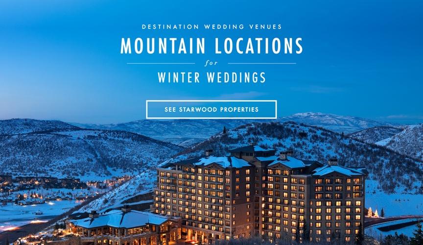Mountain wedding winter wedding locations