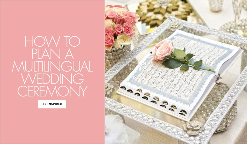 tips for planning a bilingual wedding ceremony