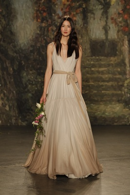 """A-line """"cressida"""" dress with champagne ombre and belt by jenny packham"""