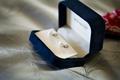 Mikimoto pearl wedding earrings in velvet box