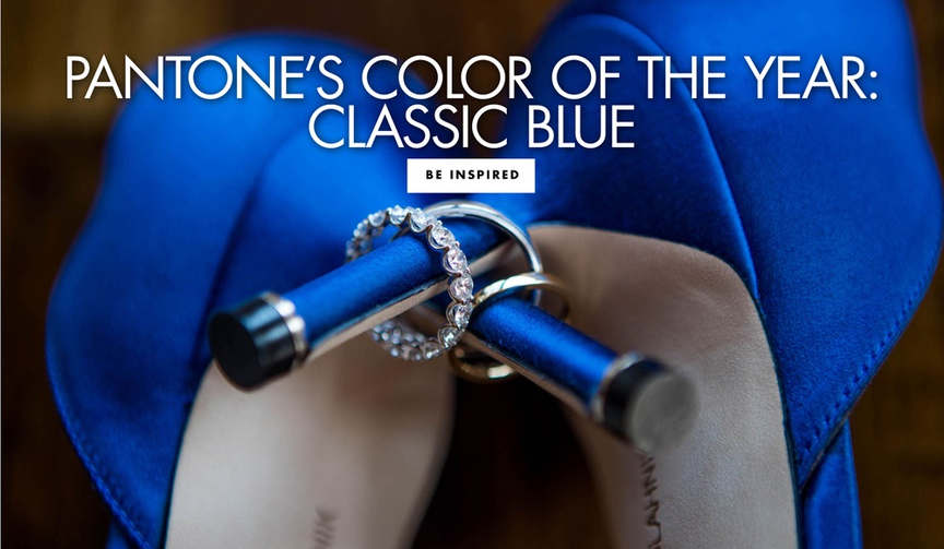 pantone color of the year classic blue wedding ideas