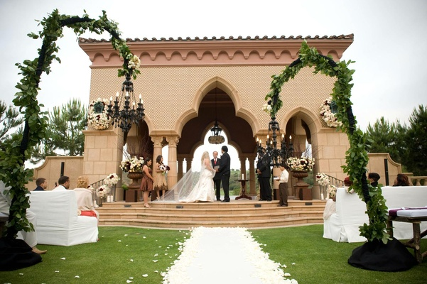 The Grand Del Mar outdoor pavilion wedding ceremony