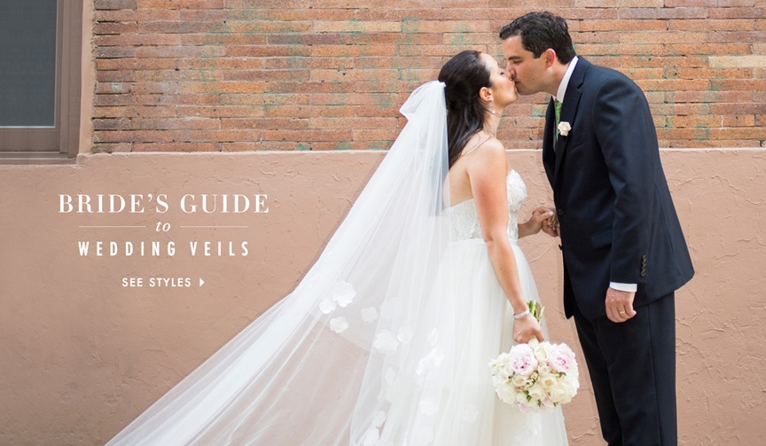 How to wear the right veil style for your wedding dress