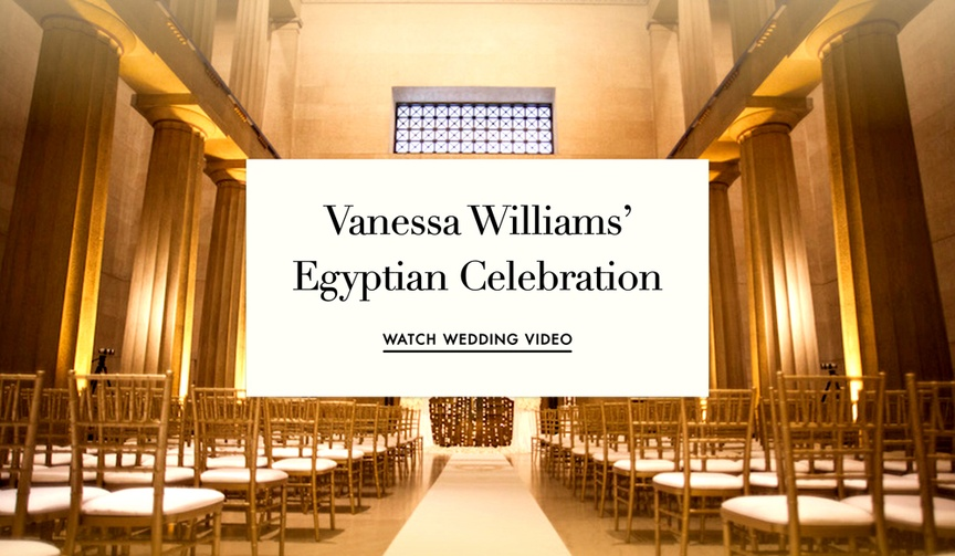 Vanessa Williams wedding video Egyptian wedding theme