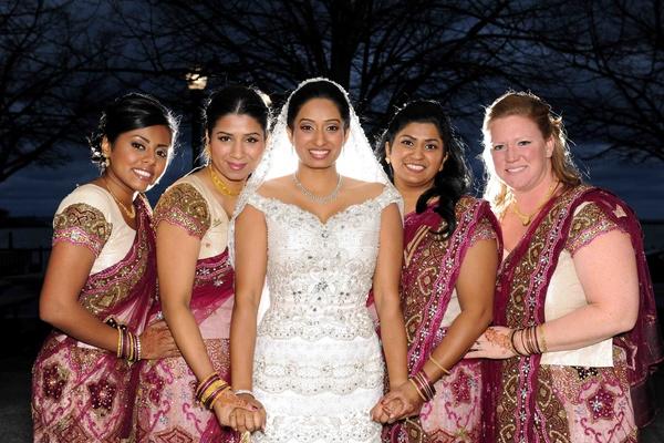 Traditional Indian bridesmaid ceremony attire