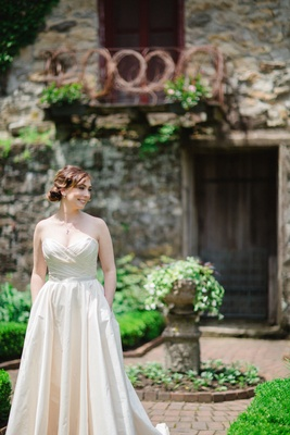 Bride In Romona Keveza Legends Collection L267 Wedding Dress With Pockets