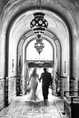 Bride and Groom portraits at Hotel Figueroa wedding in Los Angeles CA