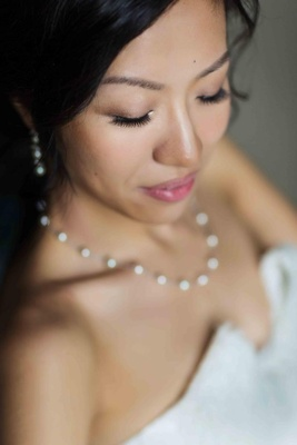 Bride with natural look makeup