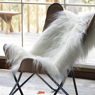 Sheepskin throw wedding gift idea