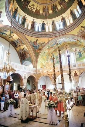 Church wedding in Santorini, Greece