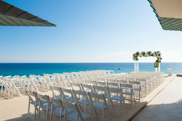 destination wedding, cabo san lucas beach wedding, wedding ceremony with ocean views