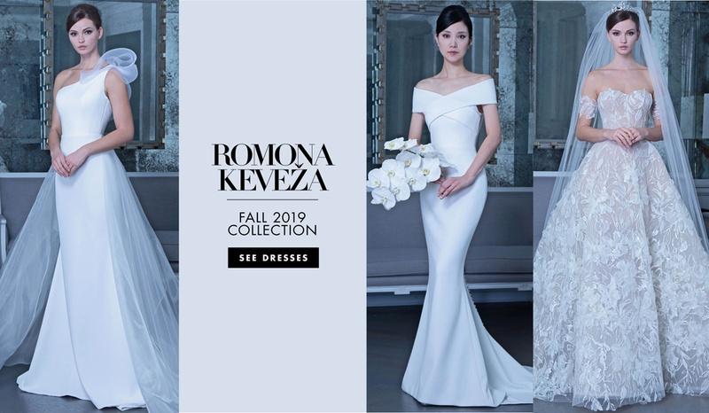Romona Keveža fall 2019 bridal collection wedding dress, bridal fashion week