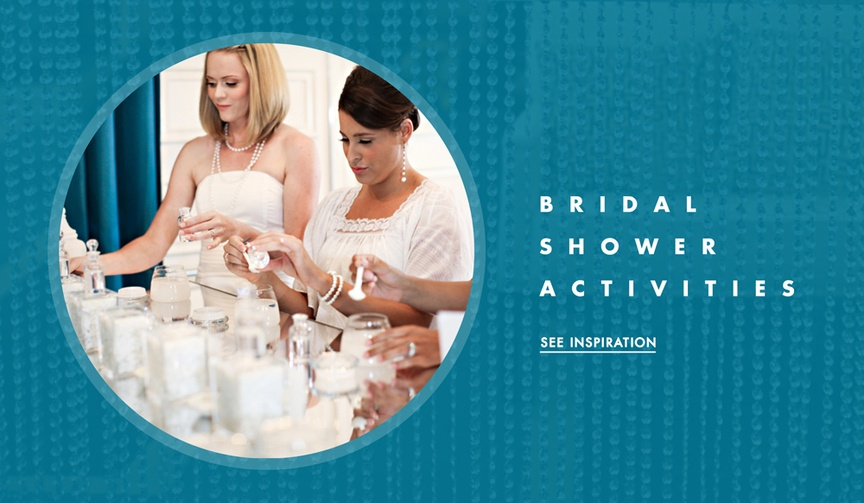 Unique ideas for bridal showers and wedding showers