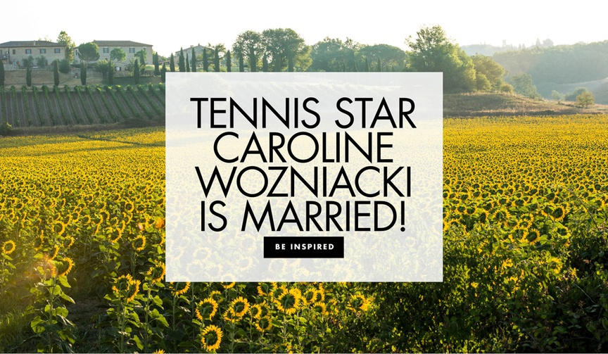 Tennis Star Caroline Wozniacki and NBA player David Lee are married serena williams bridesmaid