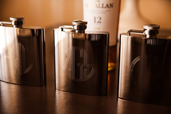 monogram flasks for groom and groomsmen wedding favors flask gift ideas