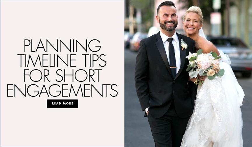 Planning timeline tips for short engagements