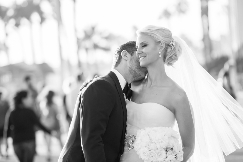 Bride and Groom at Shutters on the Beach Santa Monica CA