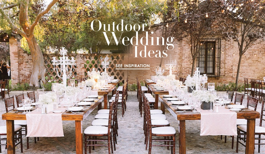Outdoor wedding ideas for your ceremony and reception