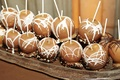 Chocolate covered apple and nuts