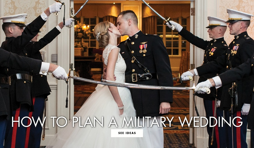 How to plan a military wedding tips for armed forces brides and grooms